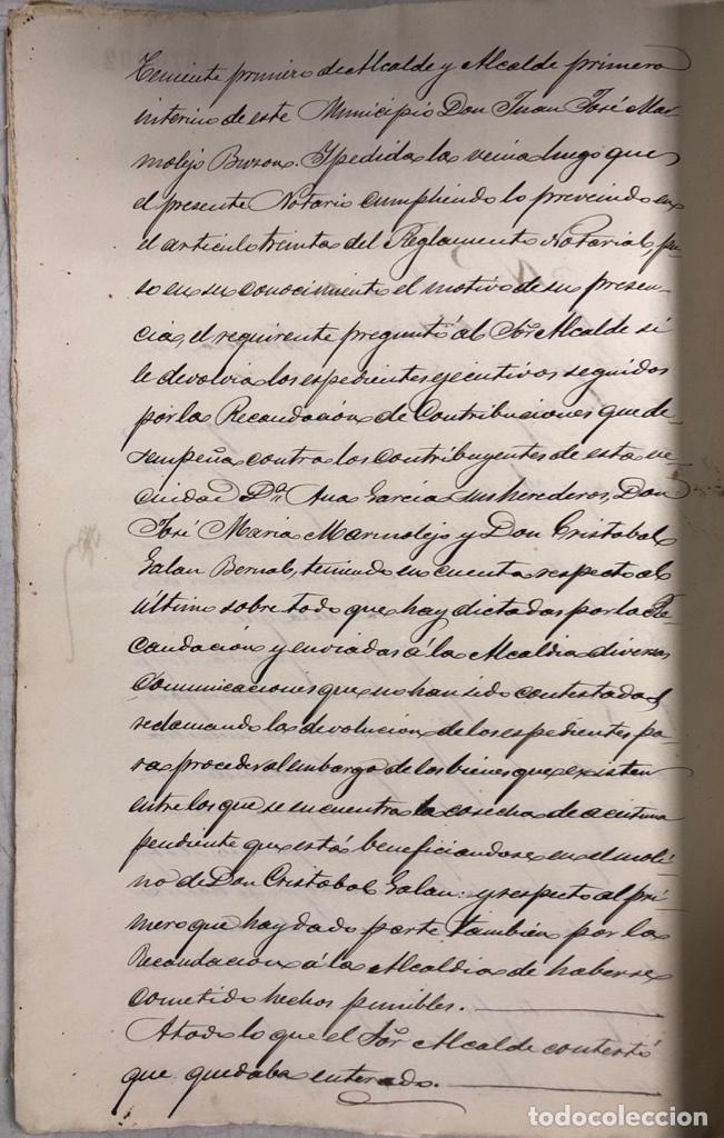 Manuscritos antiguos: ARCOS, 1885. EXPEDIENTE SOBRE LA COMISION DE APREMIOS DE LA RECAUDACION DE CONTRUBUCIONES. LEER - Foto 27 - 169266824