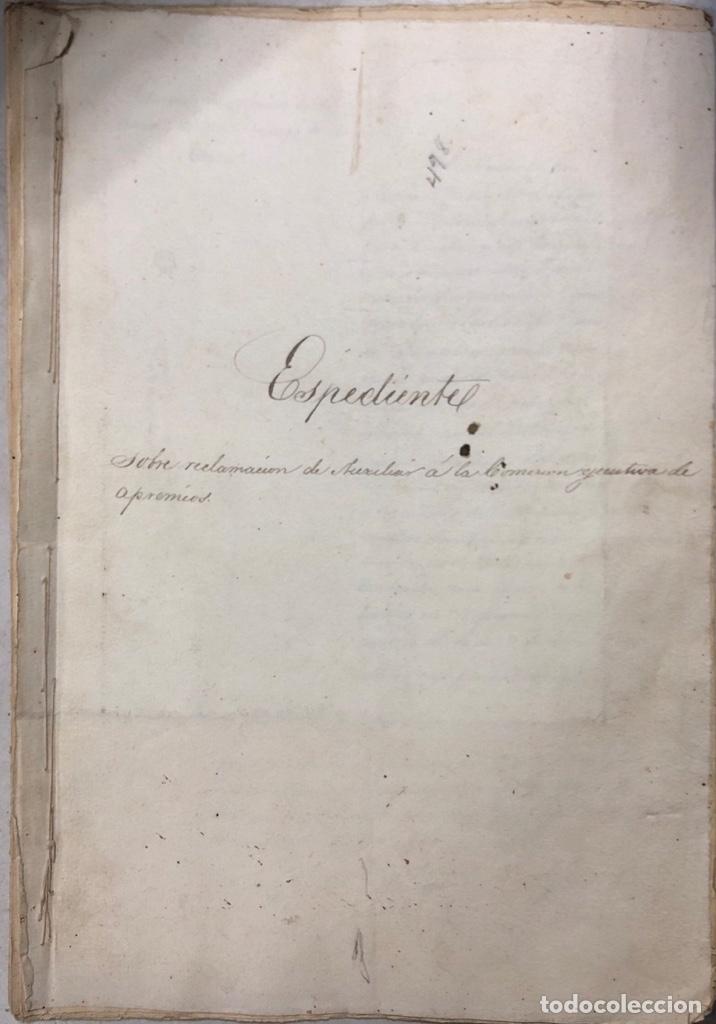 ARCOS, 1885. EXPEDIENTE SOBRE LA COMISION DE APREMIOS DE LA RECAUDACION DE CONTRUBUCIONES. LEER (Coleccionismo - Documentos - Manuscritos)