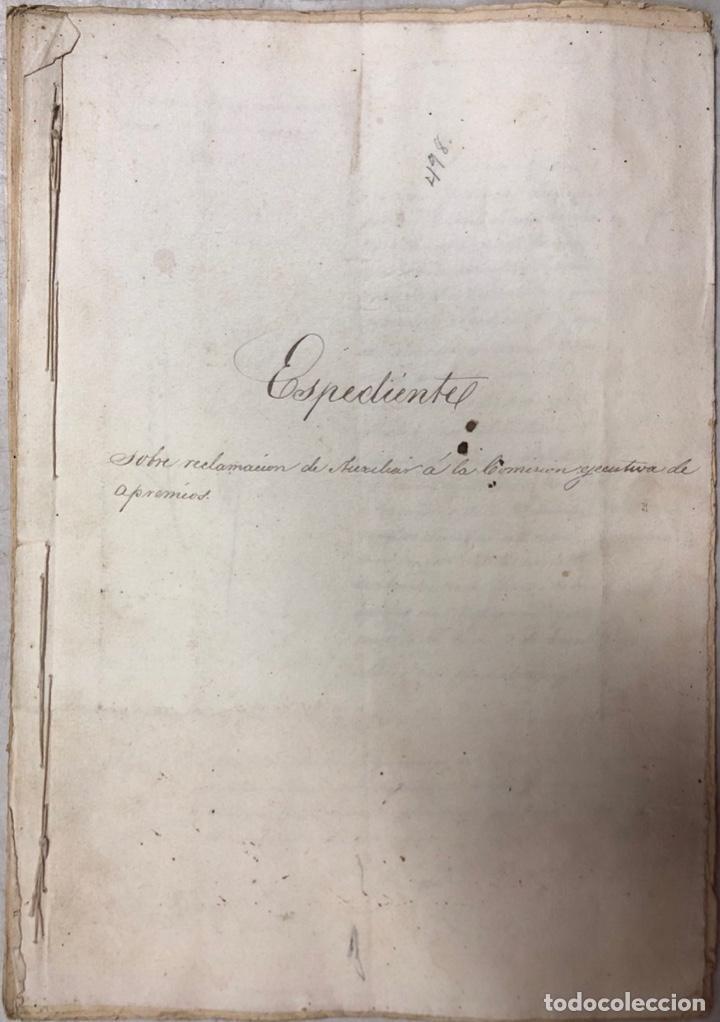 Manuscritos antiguos: ARCOS, 1885. EXPEDIENTE SOBRE LA COMISION DE APREMIOS DE LA RECAUDACION DE CONTRUBUCIONES. LEER - Foto 2 - 169266824