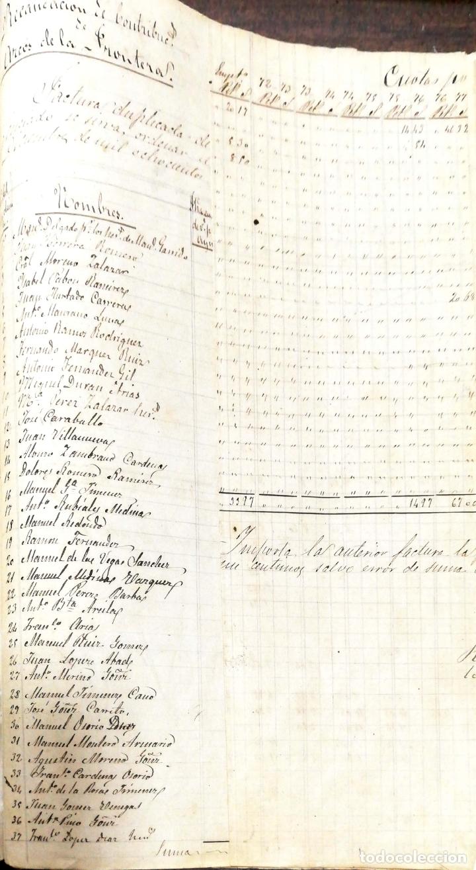 Manuscritos antiguos: ARCOS DE LA FRONTERA. 1885. EXPEDIENTE DE HACIENDA. RELACION DE DEUDORES. - Foto 4 - 169267280
