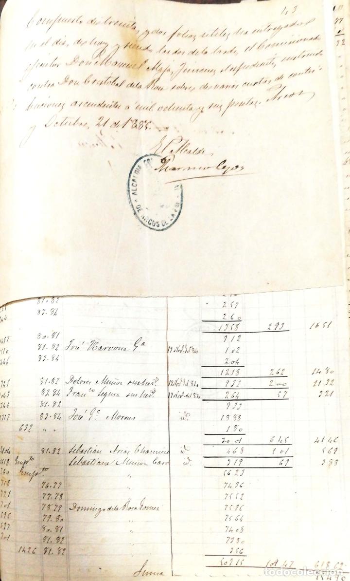 Manuscritos antiguos: ARCOS DE LA FRONTERA. 1885. EXPEDIENTE DE HACIENDA. RELACION DE DEUDORES. - Foto 10 - 169267280