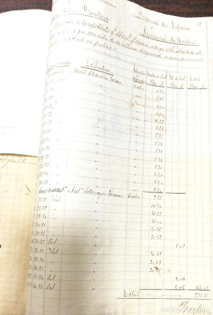 Manuscritos antiguos: ARCOS DE LA FRONTERA. 1885. EXPEDIENTE DE HACIENDA. RELACION DE DEUDORES. - Foto 11 - 169267280