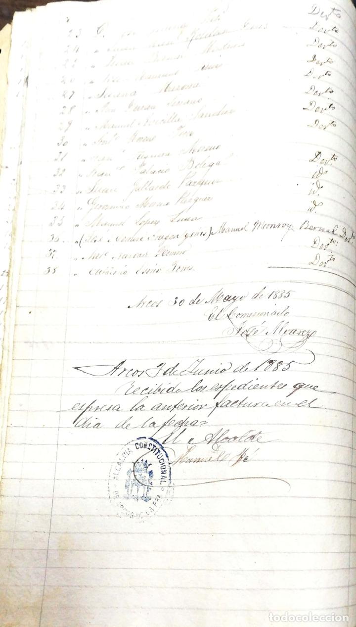 Manuscritos antiguos: ARCOS DE LA FRONTERA. 1885. EXPEDIENTE DE HACIENDA. RELACION DE DEUDORES. - Foto 18 - 169267280