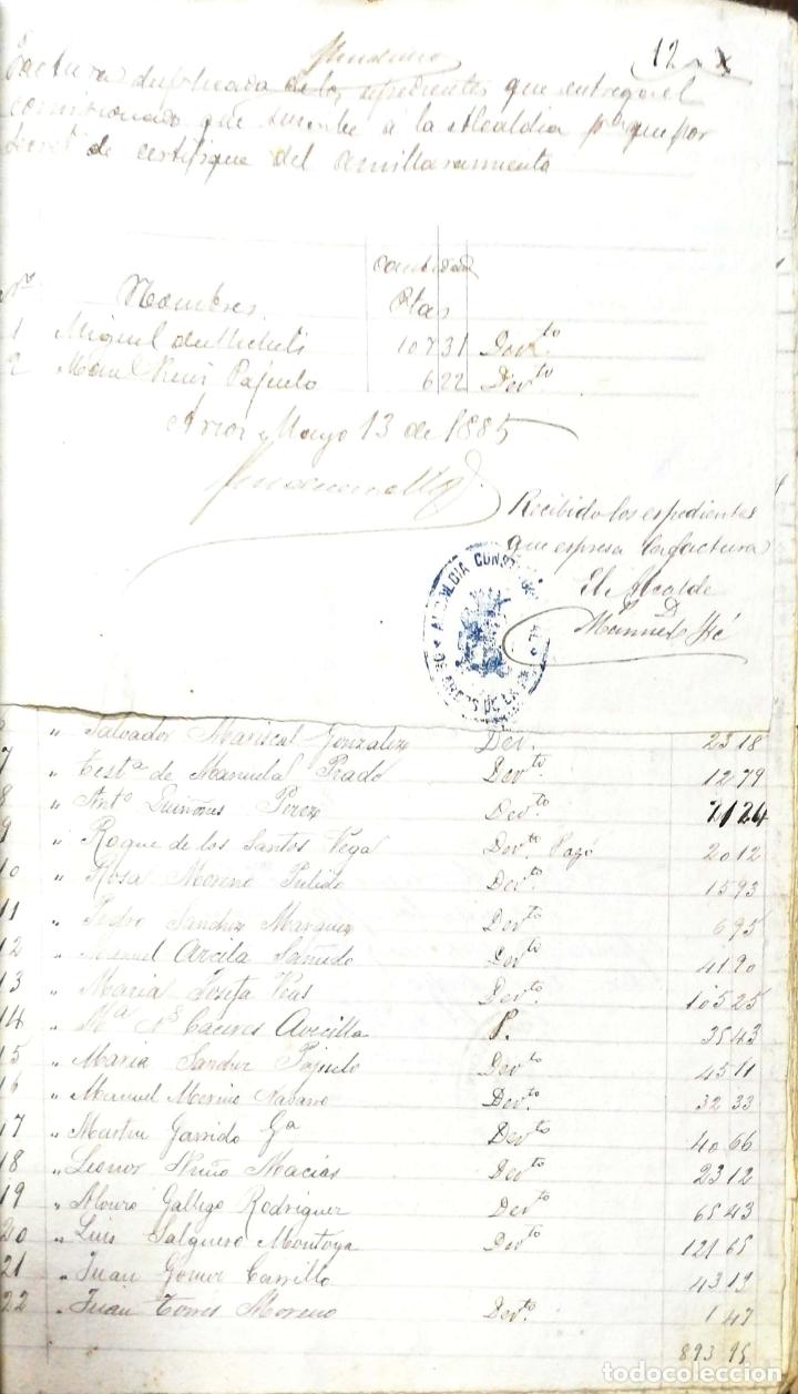 Manuscritos antiguos: ARCOS DE LA FRONTERA. 1885. EXPEDIENTE DE HACIENDA. RELACION DE DEUDORES. - Foto 28 - 169267280