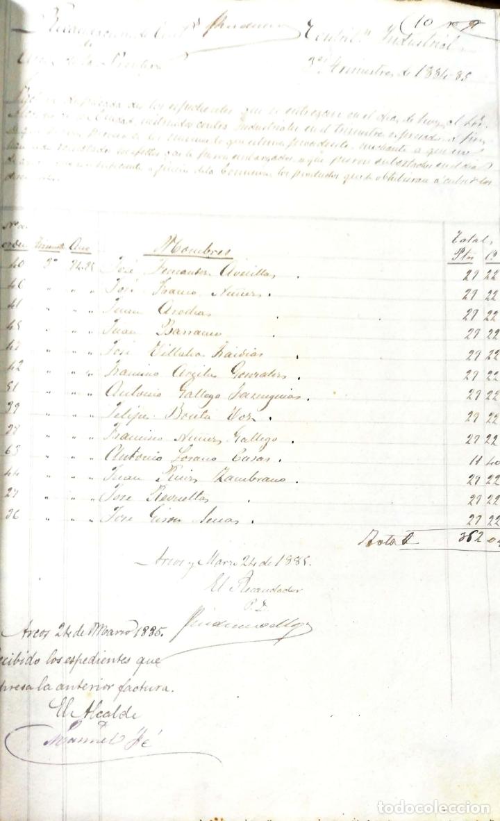 Manuscritos antiguos: ARCOS DE LA FRONTERA. 1885. EXPEDIENTE DE HACIENDA. RELACION DE DEUDORES. - Foto 29 - 169267280