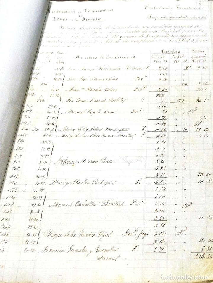 Manuscritos antiguos: ARCOS DE LA FRONTERA. 1885. EXPEDIENTE DE HACIENDA. RELACION DE DEUDORES. - Foto 31 - 169267280