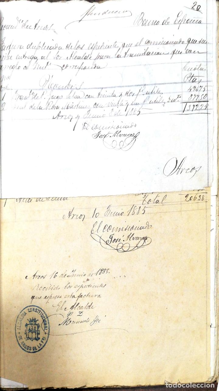 Manuscritos antiguos: ARCOS DE LA FRONTERA. 1885. EXPEDIENTE DE HACIENDA. RELACION DE DEUDORES. - Foto 37 - 169267280
