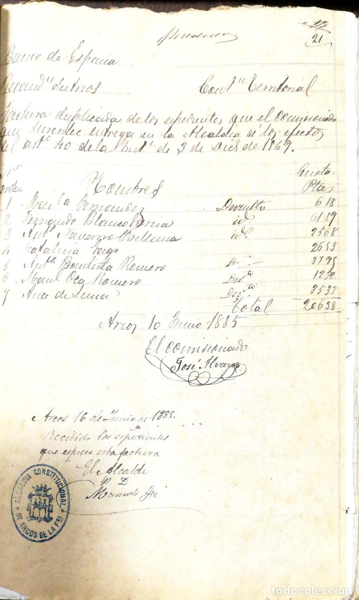 Manuscritos antiguos: ARCOS DE LA FRONTERA. 1885. EXPEDIENTE DE HACIENDA. RELACION DE DEUDORES. - Foto 40 - 169267280