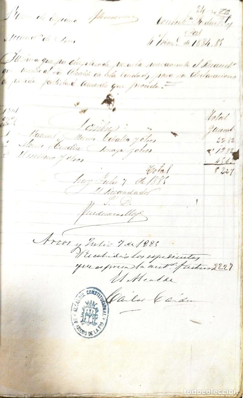 Manuscritos antiguos: ARCOS DE LA FRONTERA. 1885. EXPEDIENTE DE HACIENDA. RELACION DE DEUDORES. - Foto 41 - 169267280