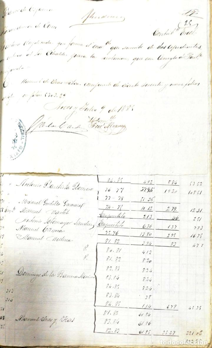 Manuscritos antiguos: ARCOS DE LA FRONTERA. 1885. EXPEDIENTE DE HACIENDA. RELACION DE DEUDORES. - Foto 44 - 169267280