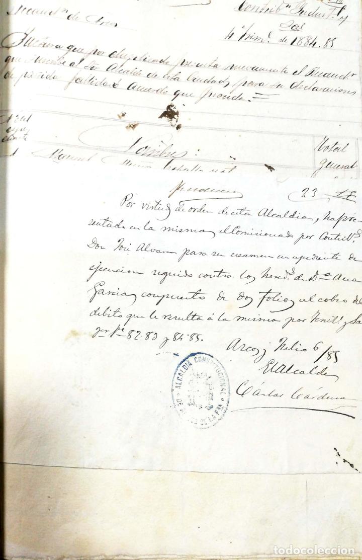 Manuscritos antiguos: ARCOS DE LA FRONTERA. 1885. EXPEDIENTE DE HACIENDA. RELACION DE DEUDORES. - Foto 45 - 169267280