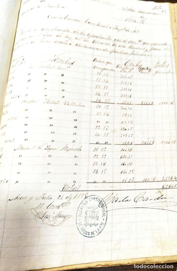 Manuscritos antiguos: ARCOS DE LA FRONTERA. 1885. EXPEDIENTE DE HACIENDA. RELACION DE DEUDORES. - Foto 47 - 169267280