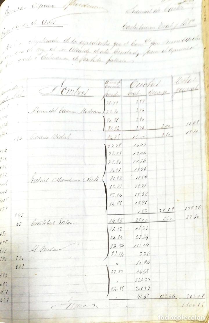Manuscritos antiguos: ARCOS DE LA FRONTERA. 1885. EXPEDIENTE DE HACIENDA. RELACION DE DEUDORES. - Foto 56 - 169267280