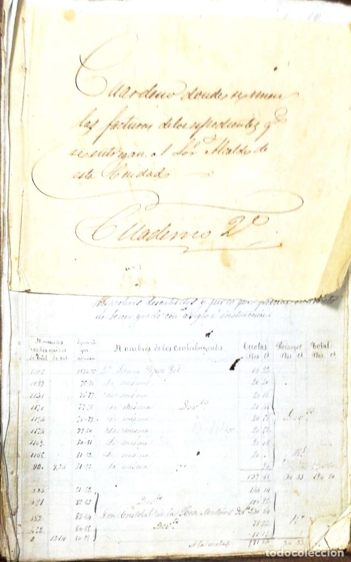 ARCOS DE LA FRONTERA. 1885. EXPEDIENTE DE HACIENDA. RELACION DE DEUDORES. (Coleccionismo - Documentos - Manuscritos)