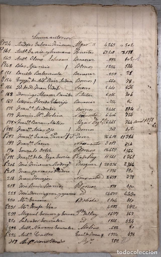 Manuscritos antiguos: ARCOS DE LA FRONTERA, 1869-70. RELACION DE DEUDORES DE LA CONTRIBUCION TERRITORIAL. LISTA TRIMESTRAL - Foto 4 - 169270744