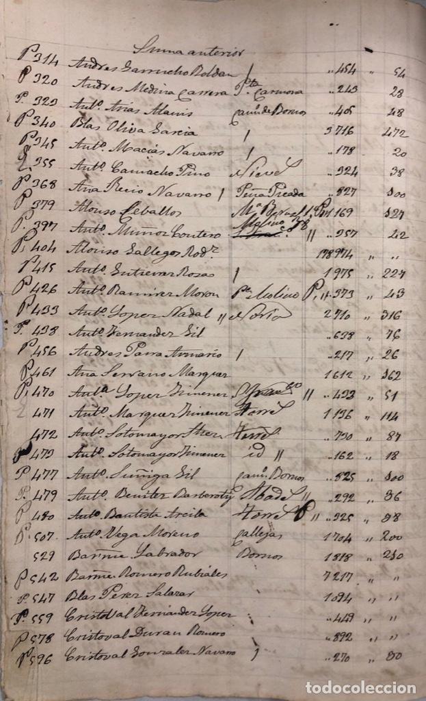 Manuscritos antiguos: ARCOS DE LA FRONTERA, 1869-70. RELACION DE DEUDORES DE LA CONTRIBUCION TERRITORIAL. LISTA TRIMESTRAL - Foto 5 - 169270744