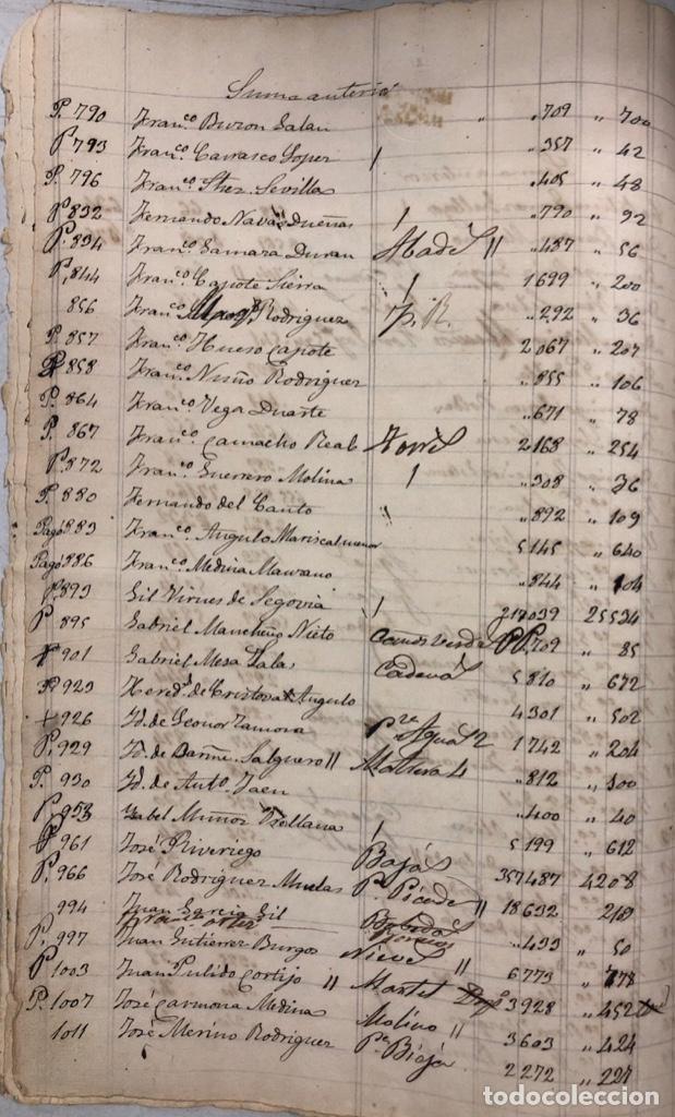 Manuscritos antiguos: ARCOS DE LA FRONTERA, 1869-70. RELACION DE DEUDORES DE LA CONTRIBUCION TERRITORIAL. LISTA TRIMESTRAL - Foto 6 - 169270744