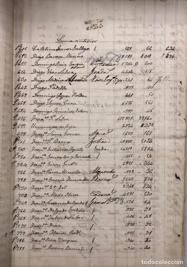 Manuscritos antiguos: ARCOS DE LA FRONTERA, 1869-70. RELACION DE DEUDORES DE LA CONTRIBUCION TERRITORIAL. LISTA TRIMESTRAL - Foto 7 - 169270744