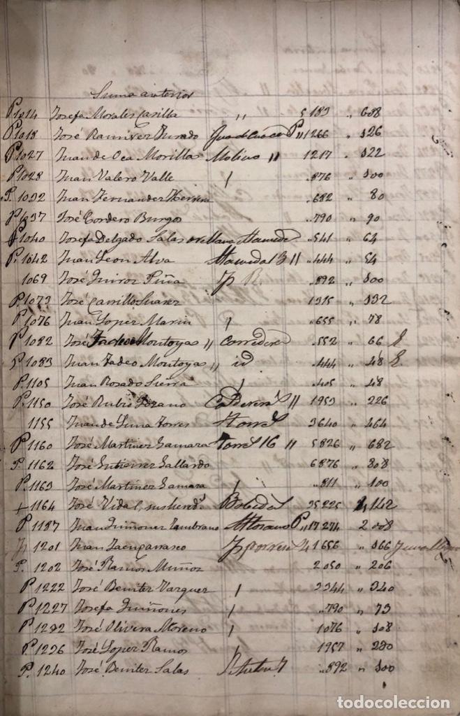 Manuscritos antiguos: ARCOS DE LA FRONTERA, 1869-70. RELACION DE DEUDORES DE LA CONTRIBUCION TERRITORIAL. LISTA TRIMESTRAL - Foto 8 - 169270744