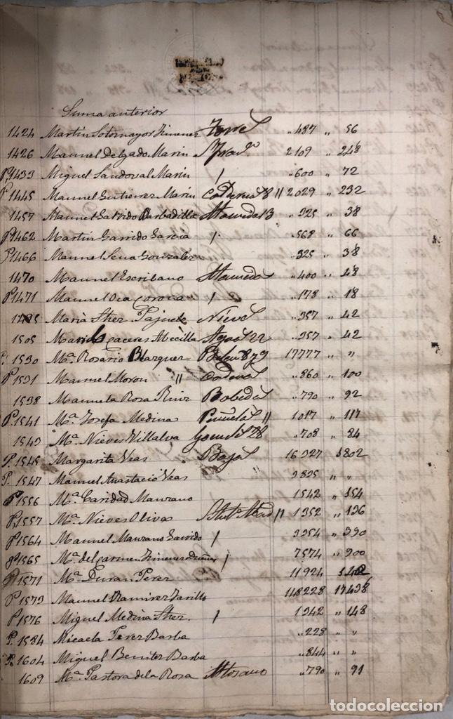 Manuscritos antiguos: ARCOS DE LA FRONTERA, 1869-70. RELACION DE DEUDORES DE LA CONTRIBUCION TERRITORIAL. LISTA TRIMESTRAL - Foto 9 - 169270744