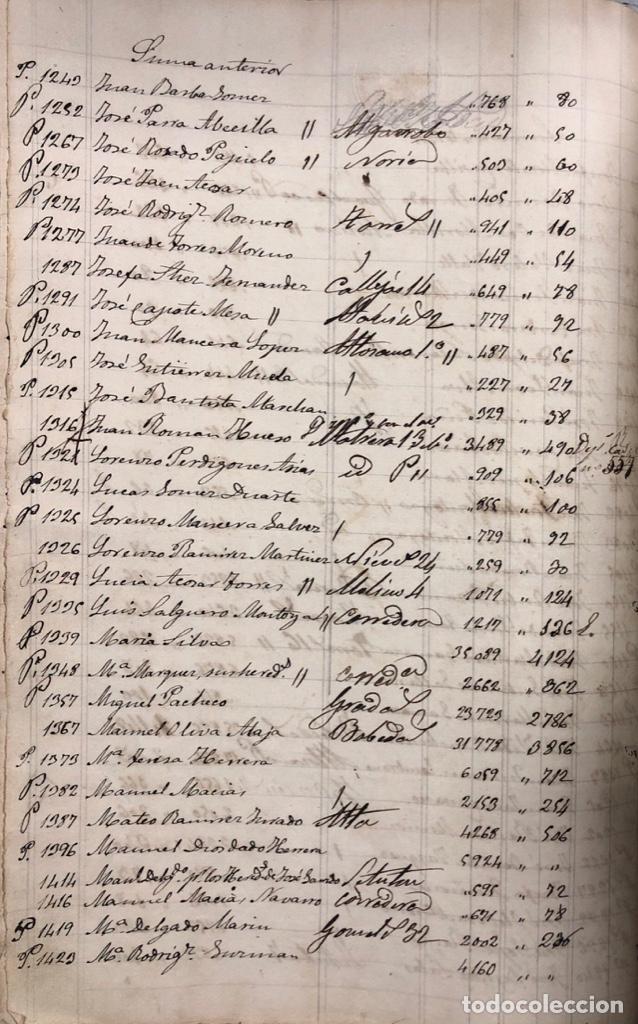 Manuscritos antiguos: ARCOS DE LA FRONTERA, 1869-70. RELACION DE DEUDORES DE LA CONTRIBUCION TERRITORIAL. LISTA TRIMESTRAL - Foto 10 - 169270744