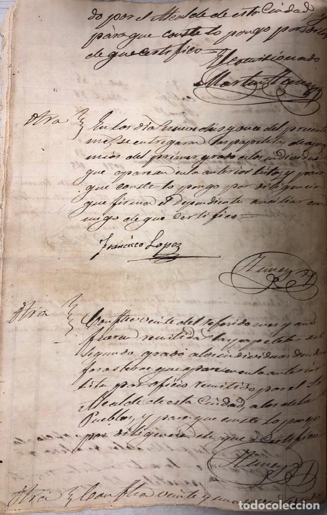 Manuscritos antiguos: ARCOS DE LA FRONTERA, 1869-70. RELACION DE DEUDORES DE LA CONTRIBUCION TERRITORIAL. LISTA TRIMESTRAL - Foto 13 - 169270744