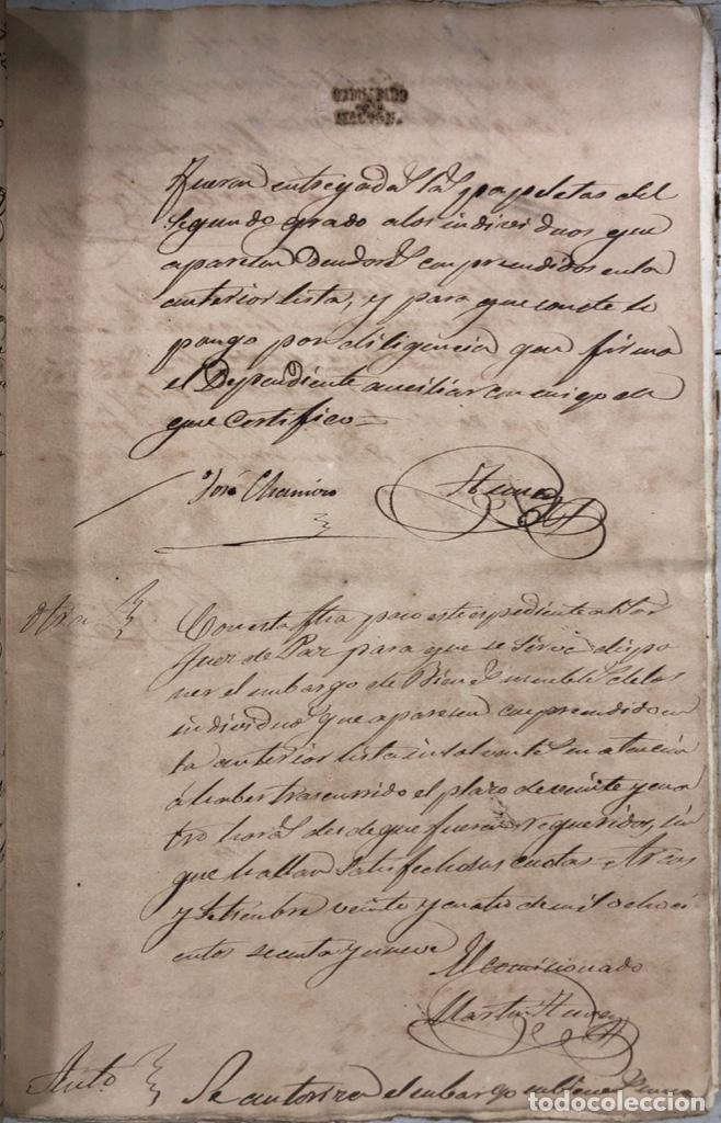 Manuscritos antiguos: ARCOS DE LA FRONTERA, 1869-70. RELACION DE DEUDORES DE LA CONTRIBUCION TERRITORIAL. LISTA TRIMESTRAL - Foto 14 - 169270744
