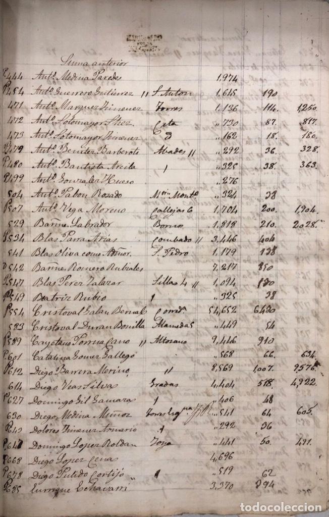 Manuscritos antiguos: ARCOS DE LA FRONTERA, 1869-70. RELACION DE DEUDORES DE LA CONTRIBUCION TERRITORIAL. LISTA TRIMESTRAL - Foto 21 - 169270744