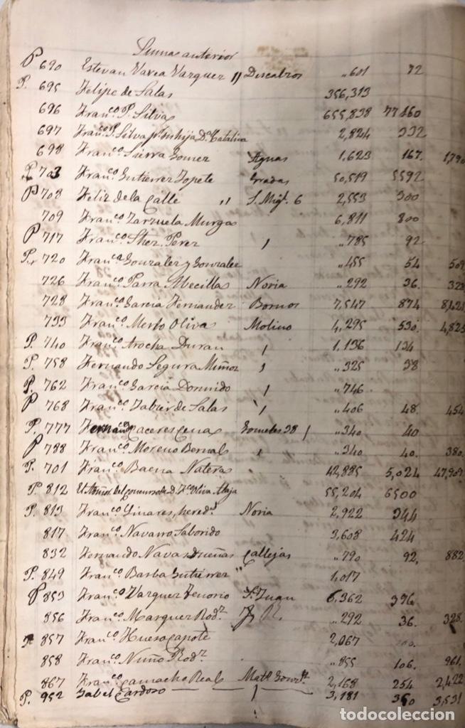 Manuscritos antiguos: ARCOS DE LA FRONTERA, 1869-70. RELACION DE DEUDORES DE LA CONTRIBUCION TERRITORIAL. LISTA TRIMESTRAL - Foto 22 - 169270744