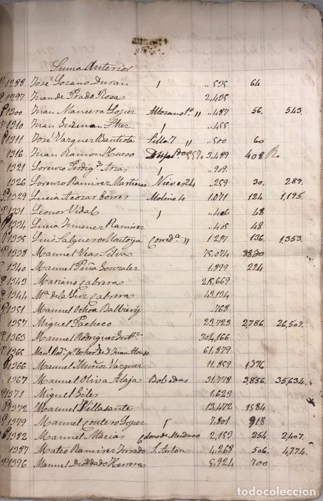 Manuscritos antiguos: ARCOS DE LA FRONTERA, 1869-70. RELACION DE DEUDORES DE LA CONTRIBUCION TERRITORIAL. LISTA TRIMESTRAL - Foto 25 - 169270744