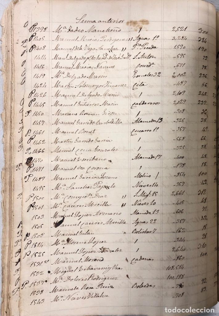 Manuscritos antiguos: ARCOS DE LA FRONTERA, 1869-70. RELACION DE DEUDORES DE LA CONTRIBUCION TERRITORIAL. LISTA TRIMESTRAL - Foto 26 - 169270744