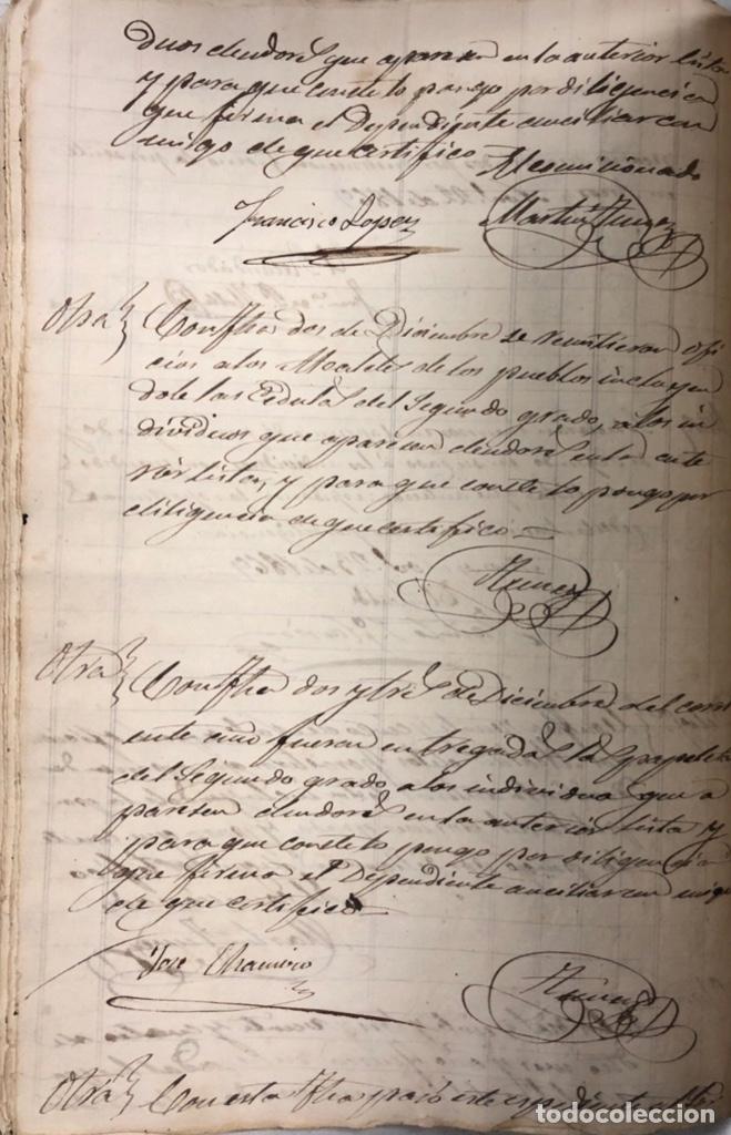 Manuscritos antiguos: ARCOS DE LA FRONTERA, 1869-70. RELACION DE DEUDORES DE LA CONTRIBUCION TERRITORIAL. LISTA TRIMESTRAL - Foto 30 - 169270744
