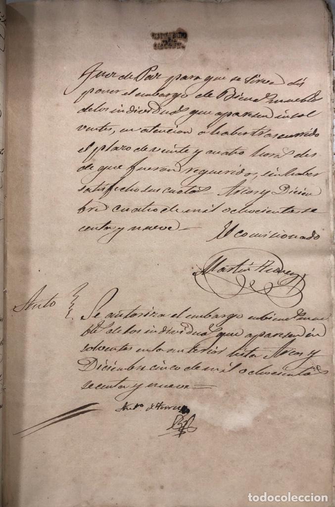 Manuscritos antiguos: ARCOS DE LA FRONTERA, 1869-70. RELACION DE DEUDORES DE LA CONTRIBUCION TERRITORIAL. LISTA TRIMESTRAL - Foto 31 - 169270744