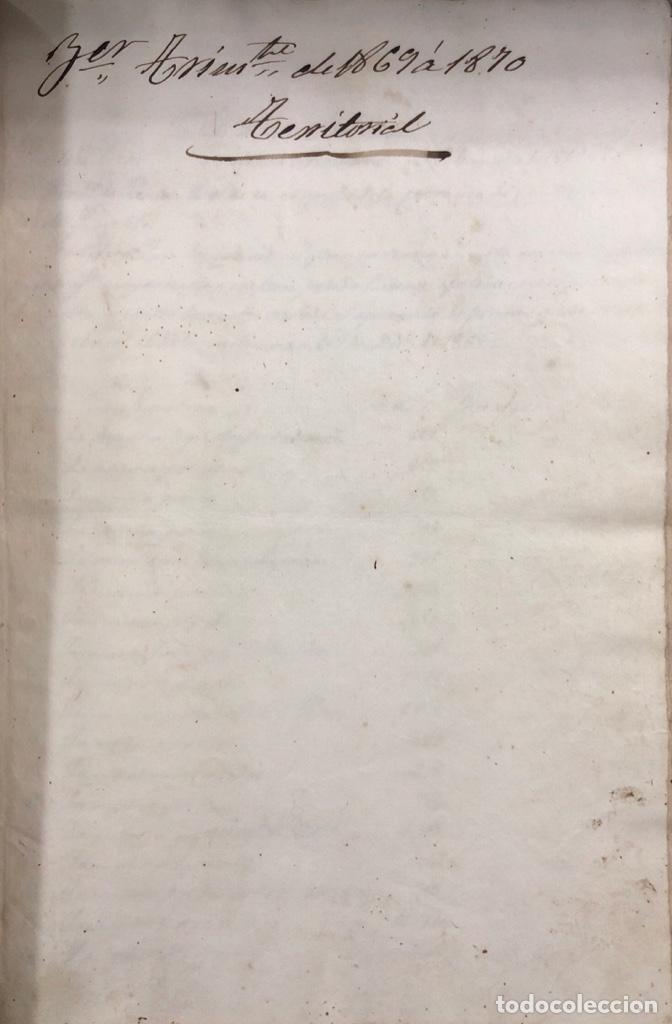 Manuscritos antiguos: ARCOS DE LA FRONTERA, 1869-70. RELACION DE DEUDORES DE LA CONTRIBUCION TERRITORIAL. LISTA TRIMESTRAL - Foto 32 - 169270744