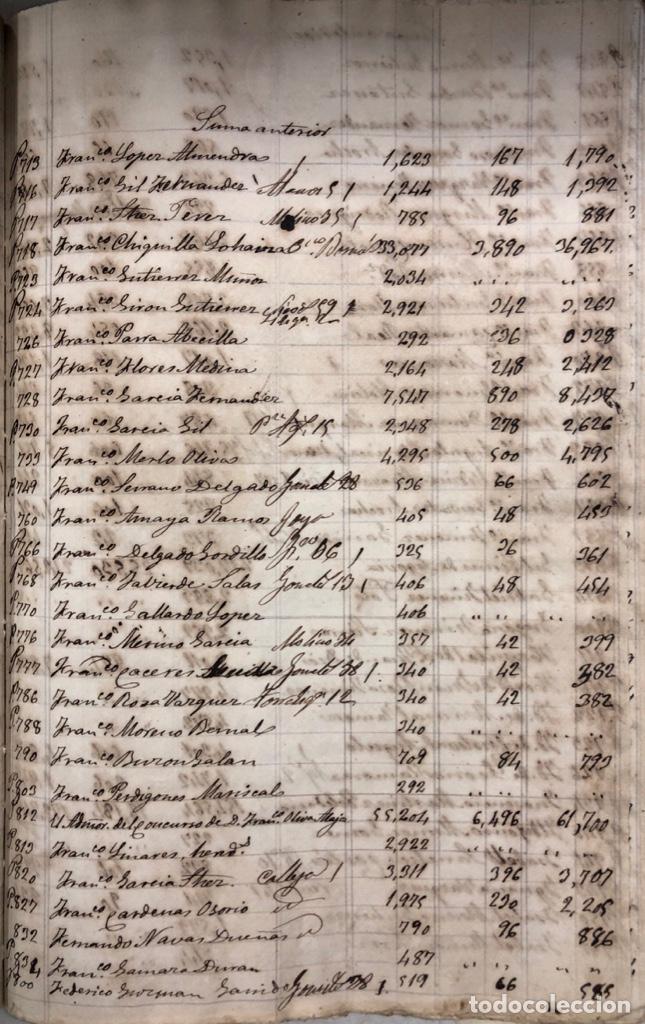 Manuscritos antiguos: ARCOS DE LA FRONTERA, 1869-70. RELACION DE DEUDORES DE LA CONTRIBUCION TERRITORIAL. LISTA TRIMESTRAL - Foto 39 - 169270744