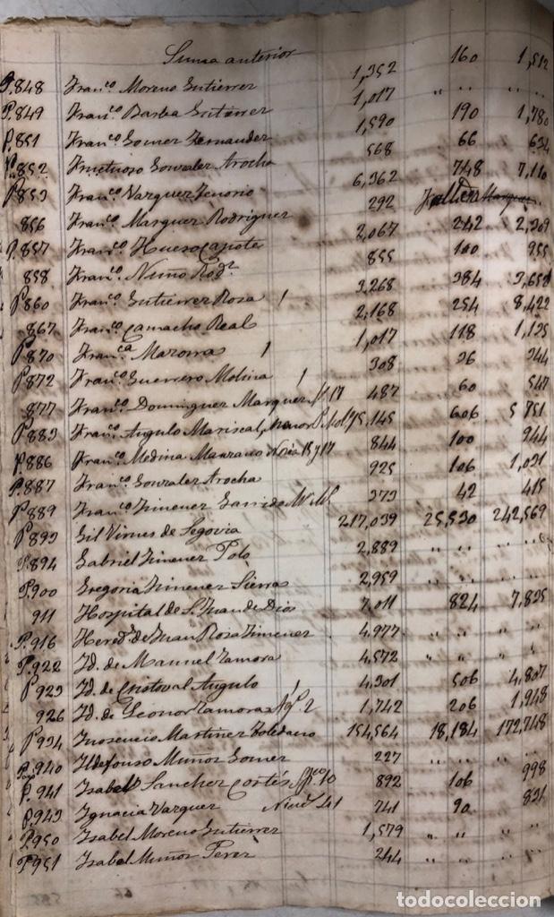 Manuscritos antiguos: ARCOS DE LA FRONTERA, 1869-70. RELACION DE DEUDORES DE LA CONTRIBUCION TERRITORIAL. LISTA TRIMESTRAL - Foto 40 - 169270744