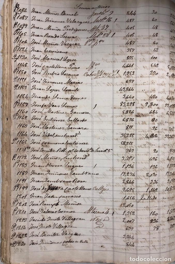 Manuscritos antiguos: ARCOS DE LA FRONTERA, 1869-70. RELACION DE DEUDORES DE LA CONTRIBUCION TERRITORIAL. LISTA TRIMESTRAL - Foto 42 - 169270744