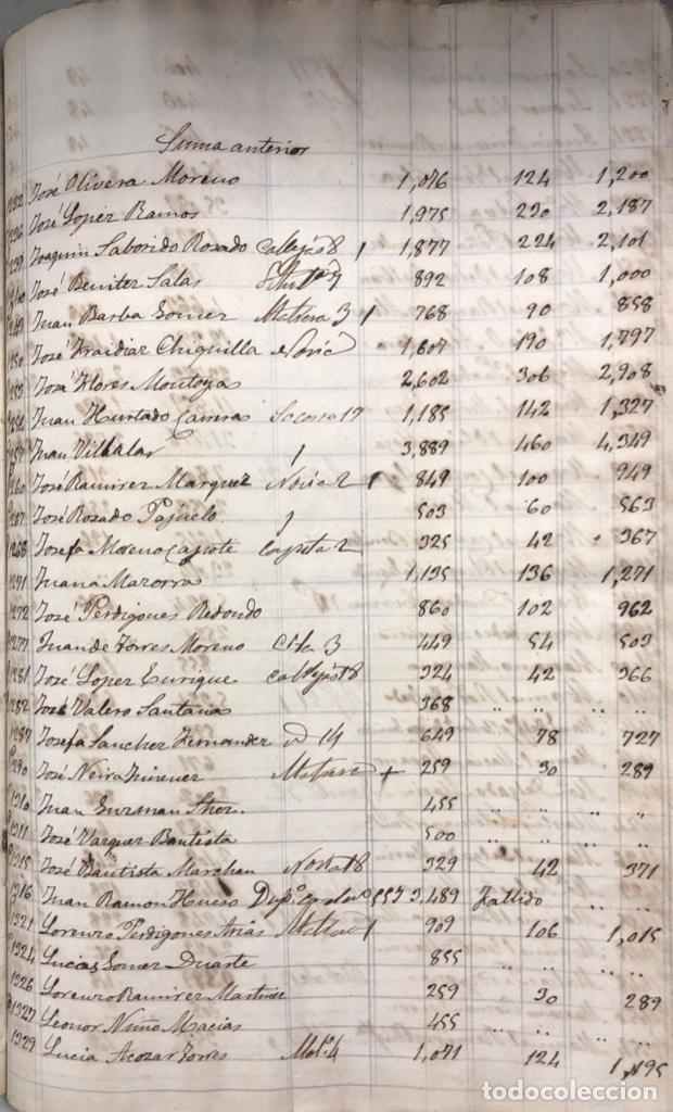 Manuscritos antiguos: ARCOS DE LA FRONTERA, 1869-70. RELACION DE DEUDORES DE LA CONTRIBUCION TERRITORIAL. LISTA TRIMESTRAL - Foto 43 - 169270744