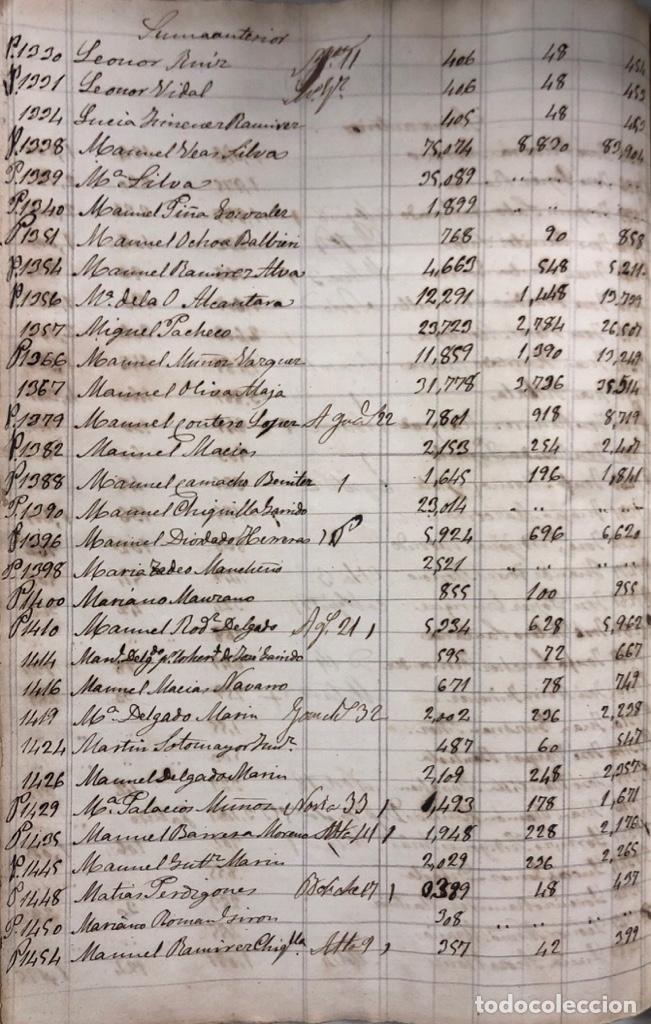 Manuscritos antiguos: ARCOS DE LA FRONTERA, 1869-70. RELACION DE DEUDORES DE LA CONTRIBUCION TERRITORIAL. LISTA TRIMESTRAL - Foto 44 - 169270744