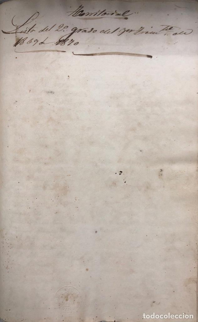 Manuscritos antiguos: ARCOS DE LA FRONTERA, 1869-70. RELACION DE DEUDORES DE LA CONTRIBUCION TERRITORIAL. LISTA TRIMESTRAL - Foto 54 - 169270744