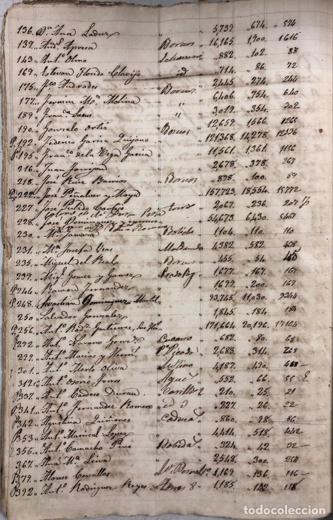 Manuscritos antiguos: ARCOS DE LA FRONTERA, 1869-70. RELACION DE DEUDORES DE LA CONTRIBUCION TERRITORIAL. LISTA TRIMESTRAL - Foto 56 - 169270744