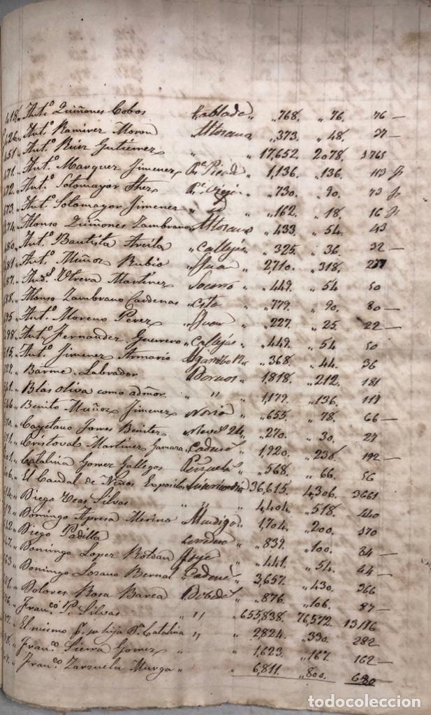 Manuscritos antiguos: ARCOS DE LA FRONTERA, 1869-70. RELACION DE DEUDORES DE LA CONTRIBUCION TERRITORIAL. LISTA TRIMESTRAL - Foto 57 - 169270744