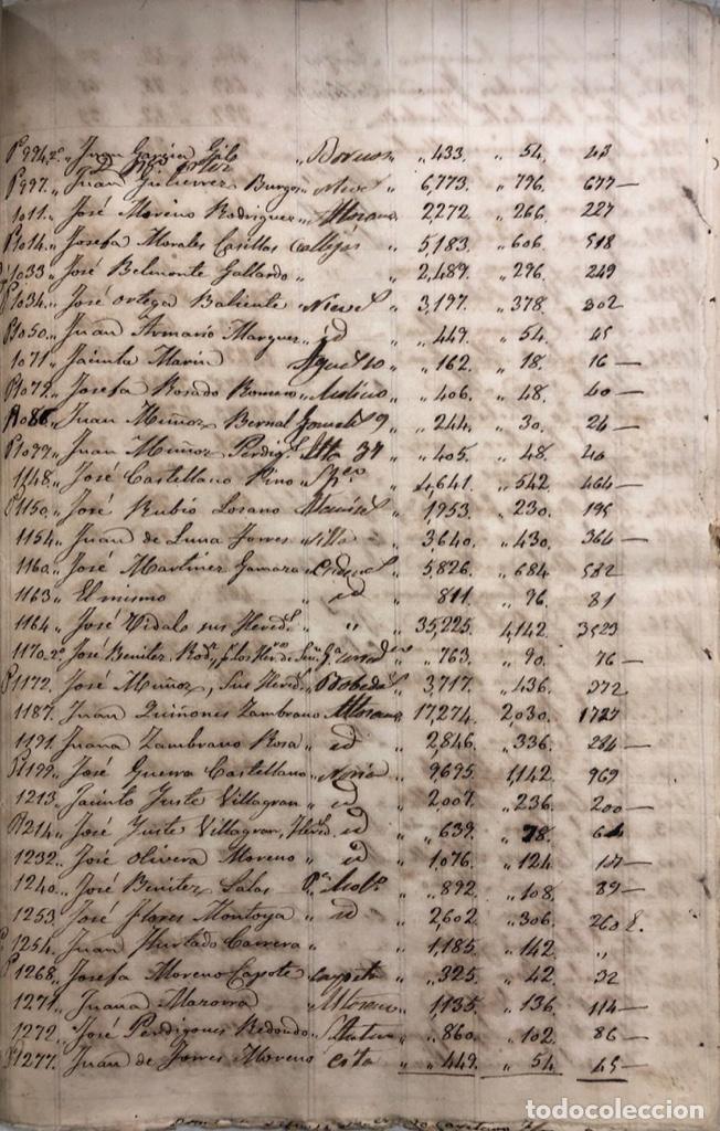 Manuscritos antiguos: ARCOS DE LA FRONTERA, 1869-70. RELACION DE DEUDORES DE LA CONTRIBUCION TERRITORIAL. LISTA TRIMESTRAL - Foto 59 - 169270744