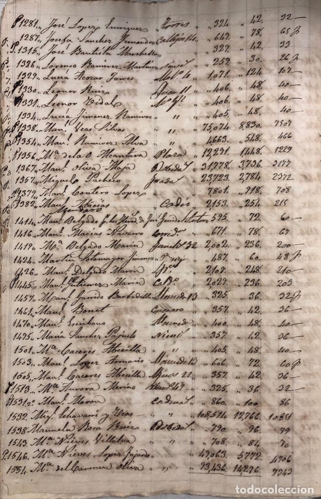 Manuscritos antiguos: ARCOS DE LA FRONTERA, 1869-70. RELACION DE DEUDORES DE LA CONTRIBUCION TERRITORIAL. LISTA TRIMESTRAL - Foto 60 - 169270744