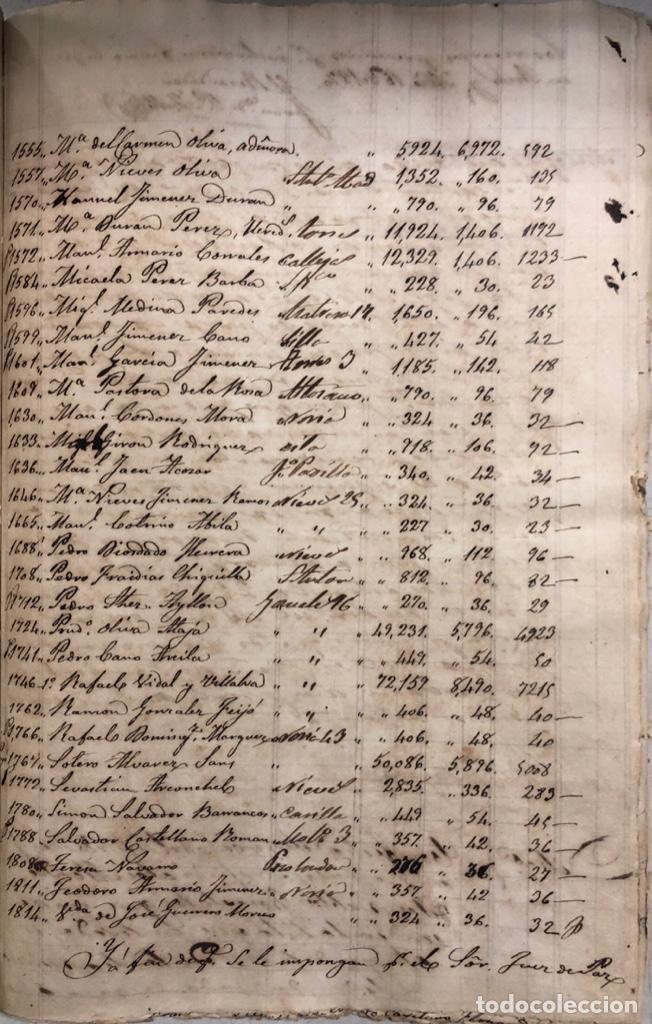 Manuscritos antiguos: ARCOS DE LA FRONTERA, 1869-70. RELACION DE DEUDORES DE LA CONTRIBUCION TERRITORIAL. LISTA TRIMESTRAL - Foto 61 - 169270744
