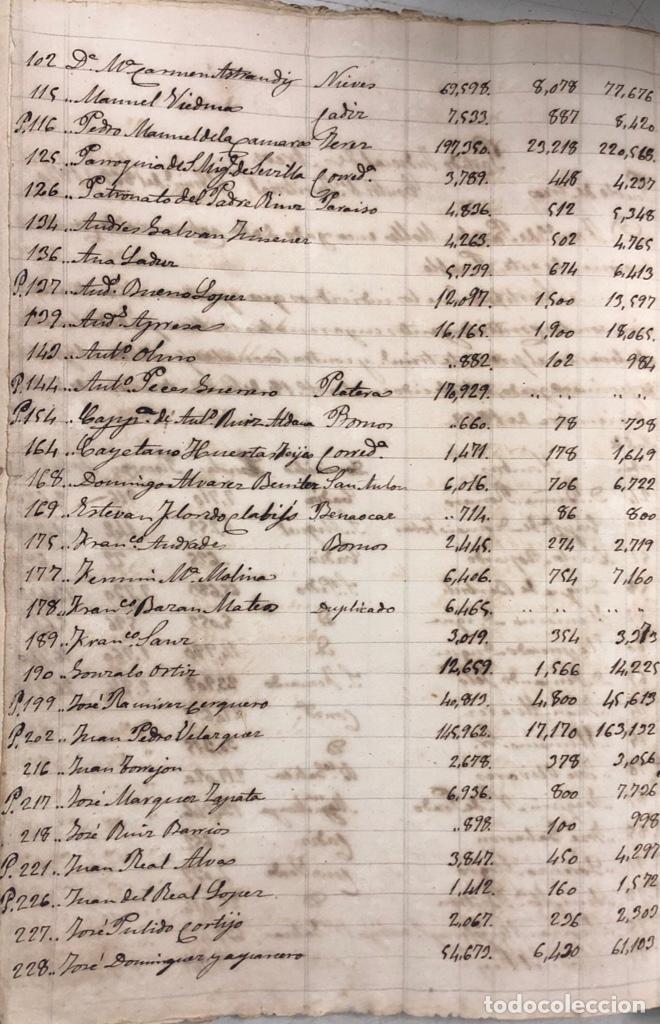 Manuscritos antiguos: ARCOS DE LA FRONTERA, 1869-70. RELACION DE DEUDORES DE LA CONTRIBUCION TERRITORIAL. LISTA TRIMESTRAL - Foto 69 - 169270744