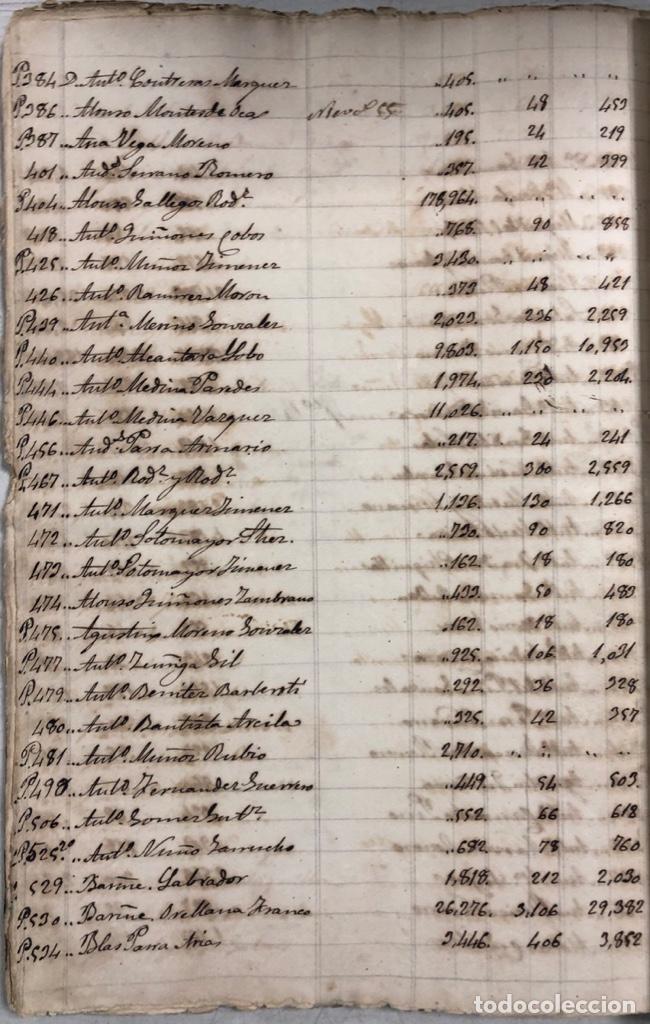 Manuscritos antiguos: ARCOS DE LA FRONTERA, 1869-70. RELACION DE DEUDORES DE LA CONTRIBUCION TERRITORIAL. LISTA TRIMESTRAL - Foto 71 - 169270744