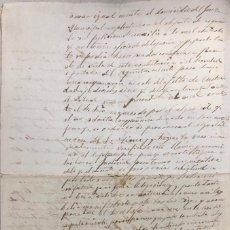 Manuscritos antiguos: ALGAR, 1888. COMPARECENCIA DE JUAN JIMENEZ EN EL JUZGADO MUNICIPAL DE ALGAR.. Lote 169388136
