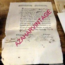 Manuscritos antiguos: SEPULVEDA, SEGOVIA, 1822, RECIBO DE CONTRIBUCION, MUY RARO. Lote 169450720