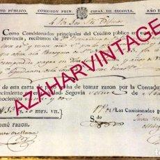 Manuscritos antiguos: SEGOVIA, 1822, CONTRIBUCION DE CASA , PARROQUIA DE SAN NICOLAS NUM.23. Lote 169456124